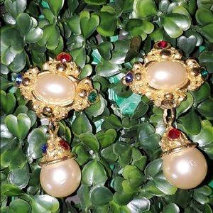 Vintage Jeweled Earrings